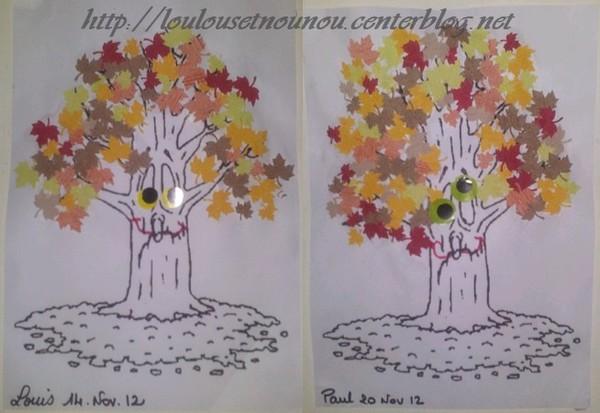 Arbre d 39 automne bricolage arbre d 39 automne - Arbre d automne a colorier ...