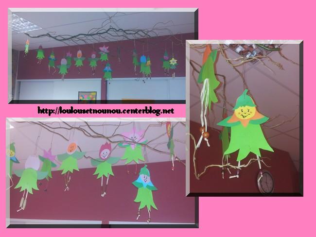 Bricolage printemps for Decoration fenetre printemps maternelle